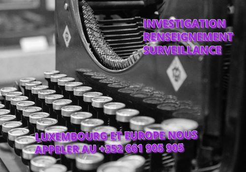 Détective privé profession libérale, Investigation, renseignement, surveillance - Détective Luxembourg